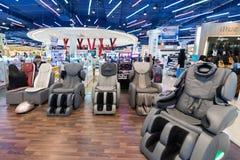 在泰国模范购物中心,曼谷的振动的扶手椅子 免版税图库摄影