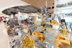 在泰国模范购物中心,曼谷的点心器物 免版税库存照片
