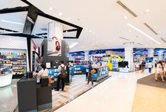 在泰国模范购物中心,曼谷的电子物品 库存图片