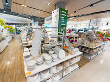 在泰国模范购物中心,曼谷的碗筷 免版税库存图片