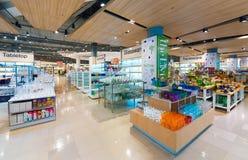 在泰国模范购物中心,曼谷的玻璃器皿 图库摄影