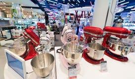 在泰国模范购物中心,曼谷的KitchenAid搅拌器 免版税图库摄影