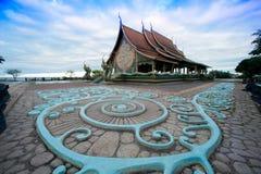 在泰国的东北部的Wat诗琳通Wararam Phu Prao寺庙 免版税库存照片