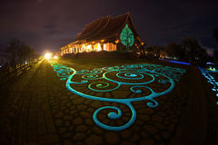 在泰国的东北部的Wat诗琳通Wararam Phu Prao寺庙 免版税库存图片