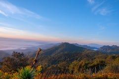 在泰国的北部的山 库存照片