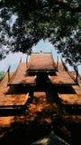 在泰国的北部的黑寺庙 免版税库存图片