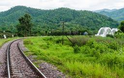 在泰国的北部的Tachompu铁路高架桥 库存照片