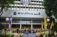 在泰国的国王王朝的曼谷THAILAND-JUNE 09,2016第70年  库存照片