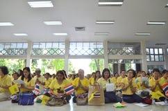 在泰国的国王王朝的曼谷THAILAND-JUNE 09,2016第70年  图库摄影