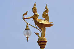 在泰国的寺庙的神话人物 免版税库存照片