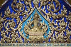 在泰国的寺庙里面 免版税库存图片