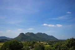 在泰国的山和森林正直 库存照片