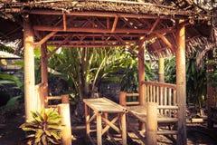 在泰国的当地样式的竹小屋 库存照片