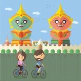 在泰国的旅游乘驾自行车 图库摄影