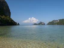 在泰国的海湾的速度小船 库存照片