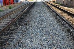 在泰国的铁路火车 免版税库存照片