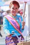 在泰国的Chiangmai省的第30个周年博桑队伞节日 图库摄影