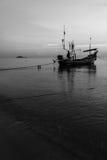在泰国穆斯林的Kolek小船渔船 免版税图库摄影