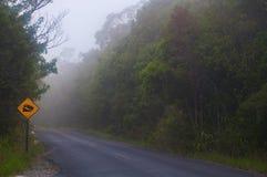 在泰国签署一座山的最陡峭的方式 库存照片