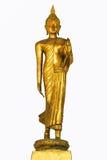 在泰国背景孤立的金子budda 库存图片