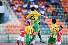 在泰国英格兰足球超级联赛的行动 库存图片