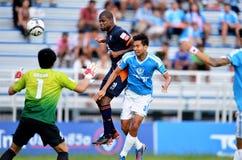 在泰国英格兰足球超级联赛的行动 库存照片