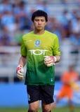 在泰国英格兰足球超级联赛的行动 图库摄影