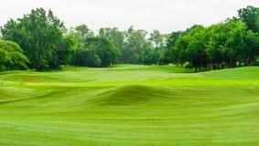 在泰国观看beautyful高尔夫球场自然风景:THE 图库摄影