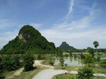 在泰国视图的山 库存照片