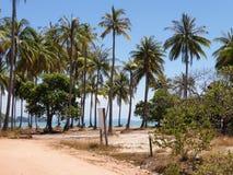 在泰国酸值姚noi的偏僻的梦想海滩 免版税库存照片