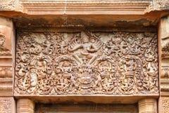 在泰国雕刻的石头 图库摄影