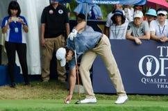 在泰国高尔夫球冠军的宽容Sordet 2015年 免版税库存图片