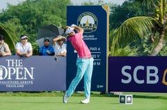 在泰国高尔夫球冠军的莓果恒信公司2015年 库存照片