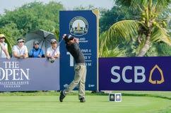 在泰国高尔夫球冠军的Juvic Pagunsan 2015年 免版税图库摄影