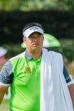 在泰国高尔夫球冠军的Kiradech Aphibarnrat 2015年 免版税库存照片