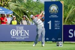 在泰国高尔夫球冠军的Panuphol Pittayarat 2015年 免版税库存图片