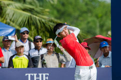 在泰国高尔夫球冠军的Phachara Khongwatmai 2015年 库存照片
