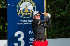 在泰国高尔夫球冠军的Sattaya Supupramai 2015年 免版税库存照片