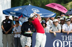 在泰国高尔夫球冠军的Yusaku Miyazato 2015年 库存图片
