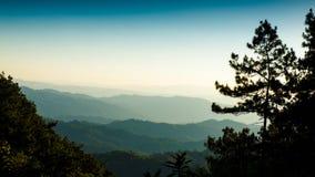 在泰国,清迈的北部的山脉 免版税库存图片