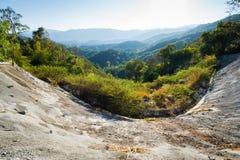 在泰国,清迈的北部的谷山 库存照片