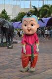 在泰国Alagkarn芭达亚的泰国吉祥人 库存图片