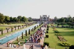 在泰姬陵的入口门,阿格拉,印度 库存图片