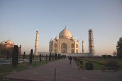 在泰姬陵的日出,阿格拉,印度 图库摄影