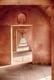 在泰姬陵的石曲拱 免版税图库摄影