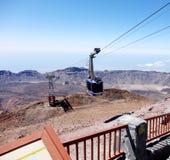 在泰德峰山的Teleferic在特内里费岛,加那利群岛,西班牙 库存图片