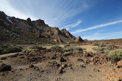 在泰德峰附近的风景 免版税图库摄影