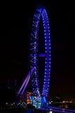 在泰晤士的伦敦英国眼睛 库存图片