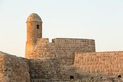 在泽夫的老巴林堡垒黄昏的 图库摄影
