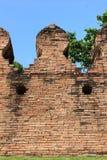 在洛坤府的老墙壁 图库摄影